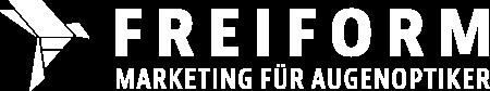 FREIFORM Marketing | Die Agentur für Augenoptiker, Logo weiß