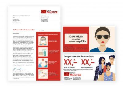 FREIFORM Marketing   Brief + DIN lang Karte 3-Jahres-Brief Sicherheitskonzept, Wertchecks, Sonnenbrillenangebot